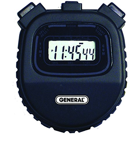 General Tools SW100A Multi-Function Black Stopwatch, 1-Line