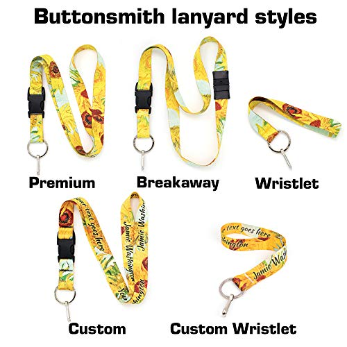 With Hokusai Waves Flat Text Name Buttonsmith Ring Your Wristlet Made Personalize Super Usa Material Soft Sunflowers Or In Custom R1wqRxIg