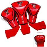 Team Golf NCAA Texas Tech Red Raiders Contour Golf Club Headcovers (3 Count), Numbered 1, 3, & X, Fits Oversized Drivers, Utility, Rescue & Fairway Clubs, Velour lined for Extra Club Protection