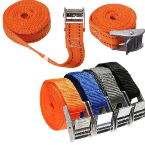 (Windspeed CamJam Tie Down Straps, Lashing Straps with Buckle Good for Roof-top Tie Downs with Kayaks, Canoes, Carriers and Other Roof Mounted Luggage)