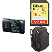 Canon PowerShot ELPH 190 Digital Camera w/ 10x Optical Zoom and Image Stabilization - Wi-Fi & NFC Enabled (Black) + Free Accessory Bundle
