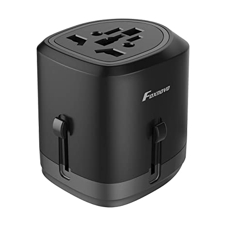 PORS-ELA International All-In-One Travel Adapter /& Charger With Dual USB NEW