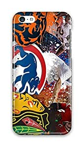 FUNKthing Chicago Sports-Chicago Bears-Chicago Cubs-Blackhawks PC Hard new Case For HTC One M8 Cover girls 3d