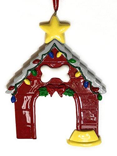 Doghouse Christmas Ornament, Dog Lovers (Dog House Ornament)