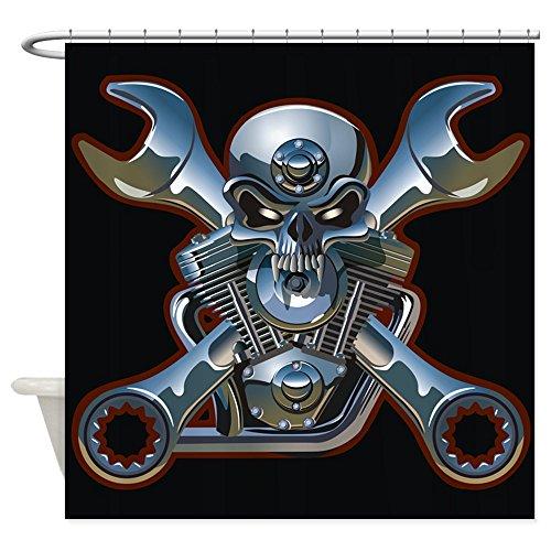 Shower Curtain Motorhead Skull Wrenches Gearhead