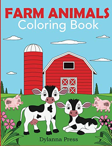Farm Animals Coloring Book: A Cute Farm Animal Coloring Book for Kids (Coloring Books for Kids)