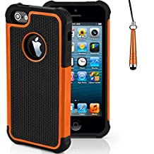 Case for Apple iPhone SE Shockproof Phone Cover with Screen Protector / iCHOOSE / Orange