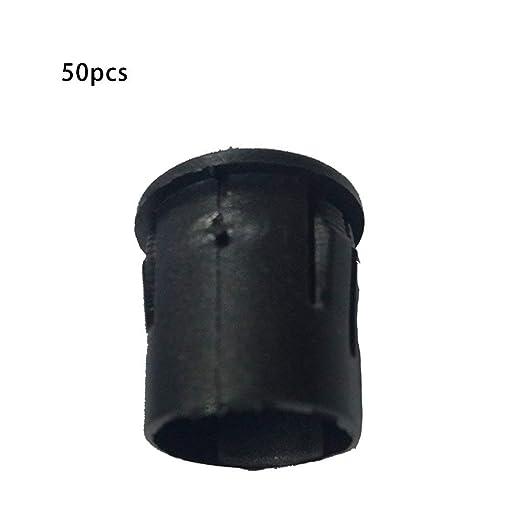 Set Durable Use 10 MM L/ámpara LED L/ámpara LED Diodo Titular Negro Clip Socket Negro 50PCS