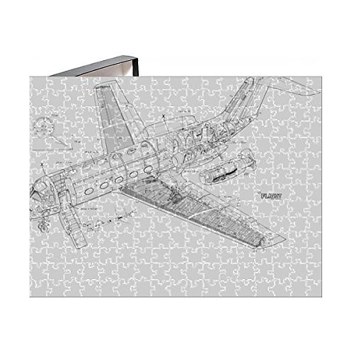 Media Storehouse 252 Piece Puzzle of Dassault Fan Jet Falcon Cutaway Drawing (4578876)