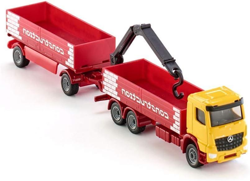 ZY Modelo de Coche Fundido a presión camión Modelo de Coche y la ingeniería del Remolque 1797 Juguete decoración del Coche 21x2.5x4cm Modelo de aleación de los niños LOLDF1