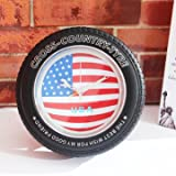 Vintage Alarm Clock - Alarm Clock Decor - Vintage National Flag Tire Wall Clock Desk American Union Jack Clock Alarm Clock Home Decor (Recordable Alarm Clock)