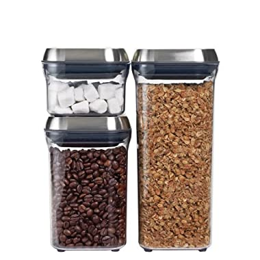 OXO SteeL POP 3-Piece Container Set