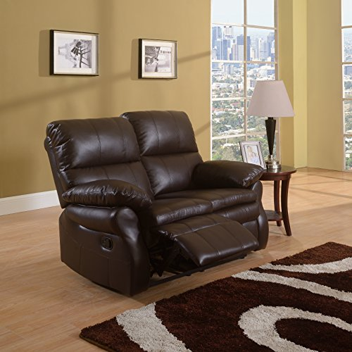 Classic Leather Oversize Recliner Loveseat