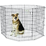 MidWest Homes for Pets Exercise Pen for Pets with Full Max Lock Door, 48-Inch, Black