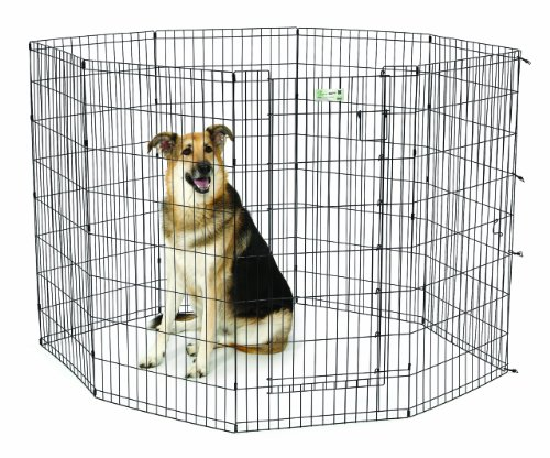 Midwest Black Pen - MidWest Homes for Pets MaxLock Exercise Pen for Pets