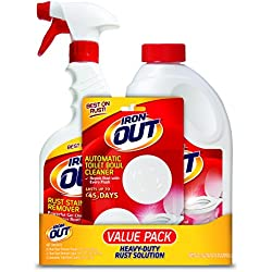 Iron OUT Rust Stain Remover Value Pack, 1 each- Iron OUT Powder (1 lb. 12 oz.), Iron OUT Spray (16 fl. oz.) and 2-Use Iron OUT Automatic Toilet Bowl Cleaner