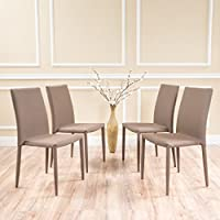 Oliver Fabric Tweed Stacking Chairs (Set of 4)