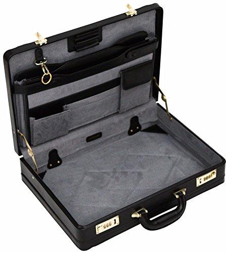 Luxury Leather Executive Case Attache Briefcase Expander Business -