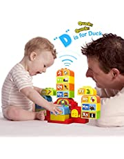 Talking ABC Blocks Alphabet Learning - Plastic Blocks with Audio. For 2 Years and Up