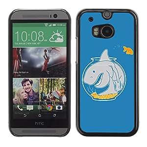 CaseLord Carcasa Funda Case - HTC One M8 / Goldfish & Shark /