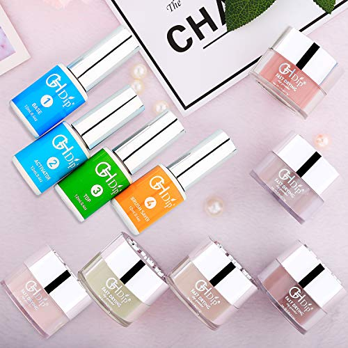 Dip Powder Nail Kit Acrylic Nail Dip Powder Kit G643 (6 nude colour)