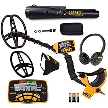 Garrett ACE 400 Metal Detector with DD Waterproof Search Coil and Pro- Pointer II