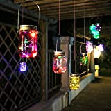 LED Color Changing Fairy Light, Outdoor Solar Mason Jar Lamp And Home Garden Decorative Glass Vase Tank Wishing Bottle Plug (8)