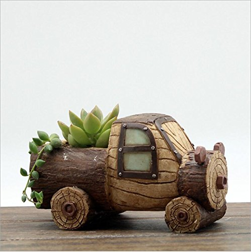 NWFashion Garden Pot, Mini Cute Car/Boat Stute,Flower And Succulent Plant