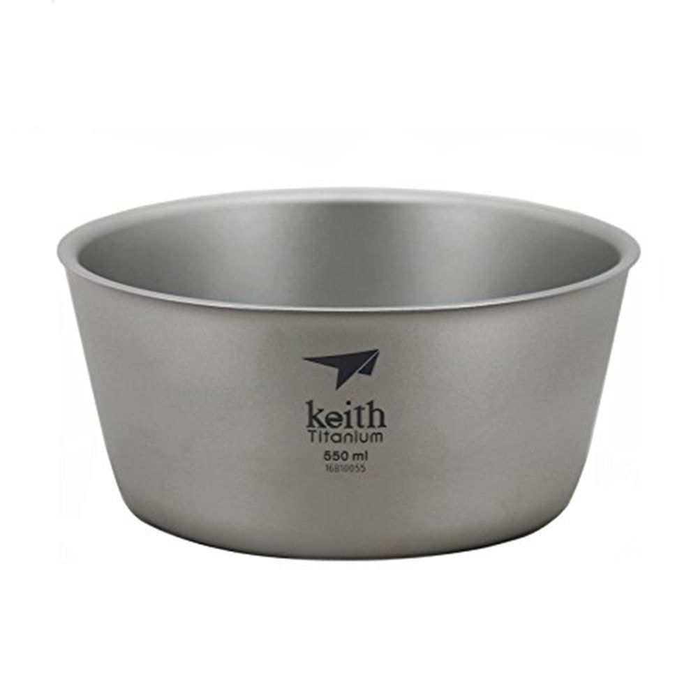 Keith Titanium Double Wall Bowl Camping Bowl Picnic Bowl Only 114g