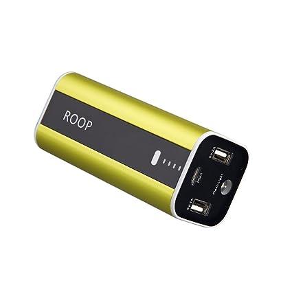 Amazon.com: roop 12000 mAh Cargador rápido dual usb batería ...
