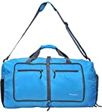 Woogwin Womens & Mens Travel Duffel Bag 60L Foldable Duffle Bags For Luggage Gym Sports (Blue)