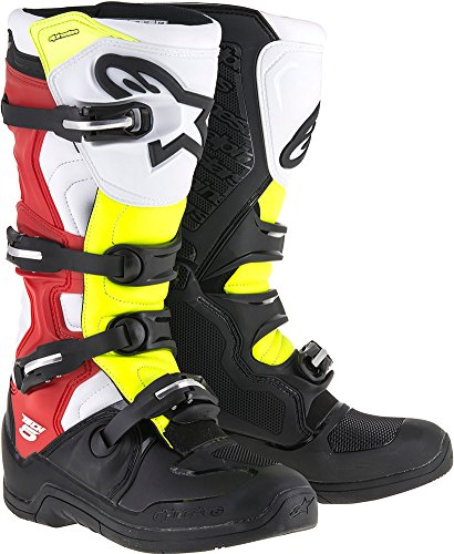 Alpinestars Tech 5 Boots-Black/Red/Yellow-8 by Alpinestars