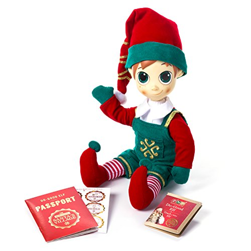North Pole Portable 76675504Elf–Custom (Male) Plush Toy with Video Messages from Santa Claus (Father Christmas) -