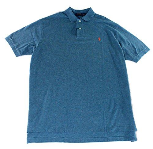 Polo Ralph Lauren Men Classic Fit Mesh Polo Shirt (Medium , Marine Heather) (Gestreift Polo Ralph Lauren)