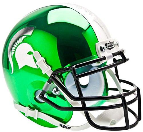 (MICHIGAN STATE SPARTANS NCAA Schutt XP Authentic MINI Football Helmet MSU (CHROME))