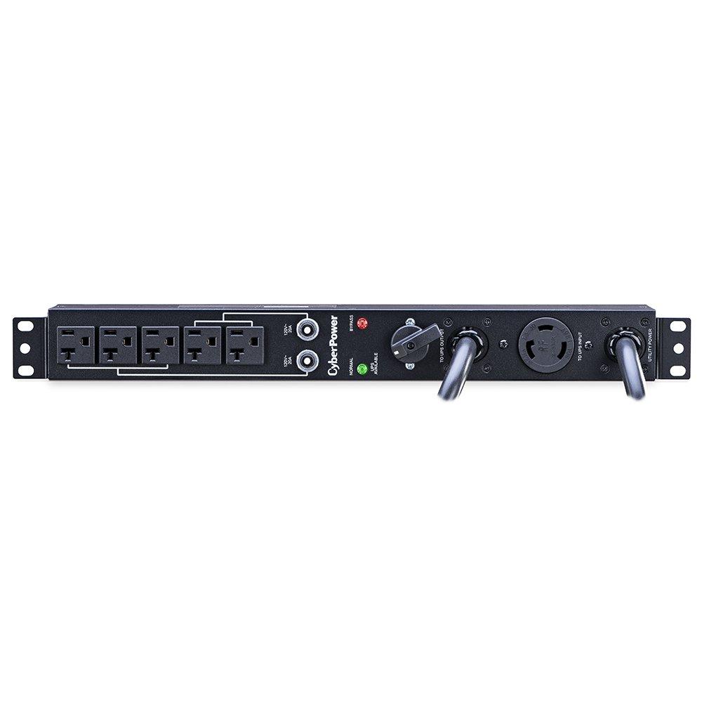 CyberPower MBP30A5 Maintenance Bypass PDU, 120V/30A, 5 Outlets, 1U Rackmount