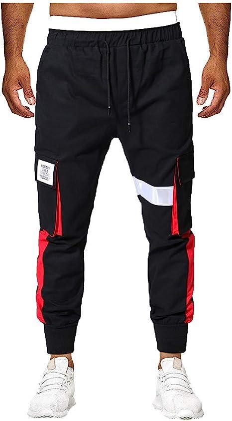 Karinao - Pantalones largos de deporte para hombre, de algodón ...