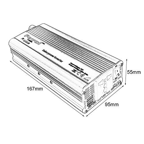 Amazon Com Baynne 1000w Car Power Inverter Dc12v To Ac220v Dual Usb
