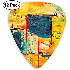 Sherly Yard 15 Classic Cool Medium Picks für Gitarre, Akustikgitarre, Mandoline und Bassgitarre (ABS 12er Pack, 3…