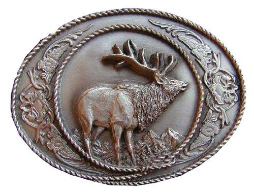 (Elk Novelty Belt Buckle)