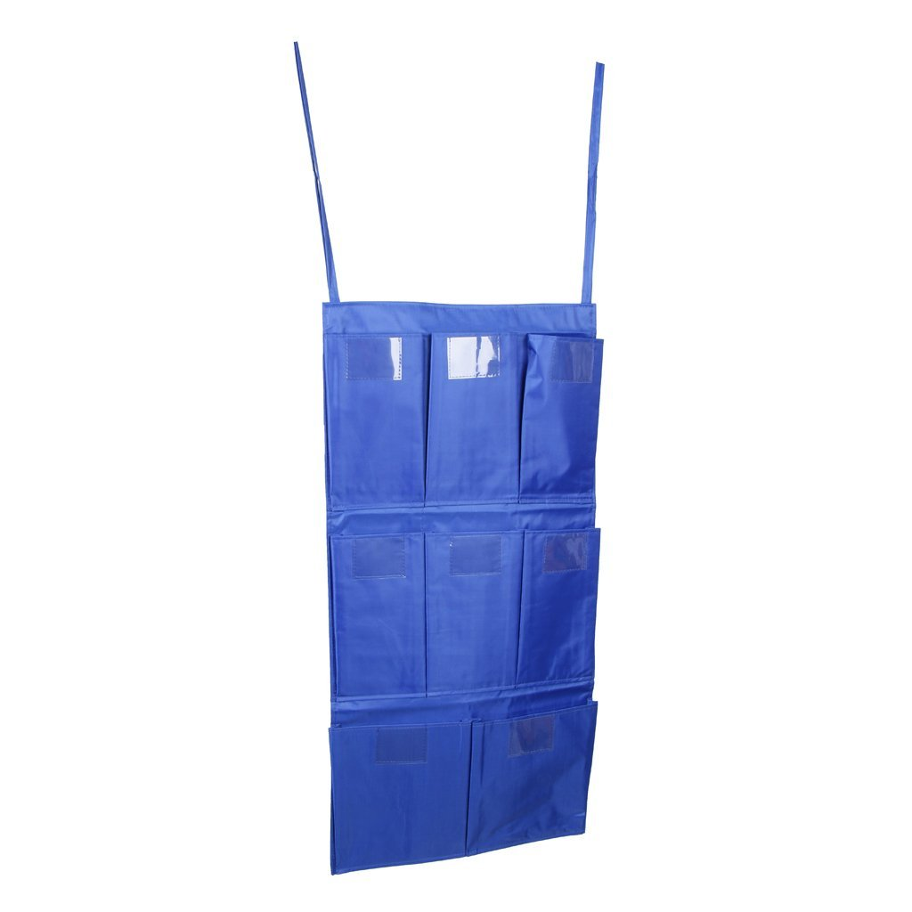 Homyl Cleaning Bag Trolley Janitorial Housekeeping Cart Hanging Bag Caddy Bag Container Blue