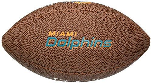 Mini Miami Dolphins Official (Wilson WTF1533IDMI NFL Team Logo Mini Size Football - Miami Dolphins)