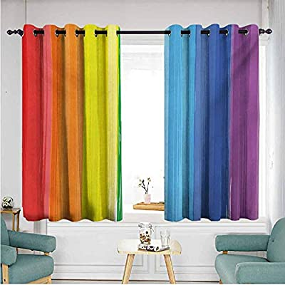 ETHEEKA - Cortinas para Puerta corredera, arcoíris, decoración de ...