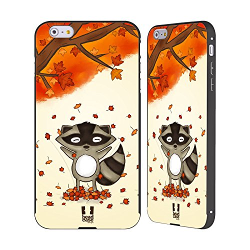 Head Case Designs Orsetto Lavatore Animali In Autunno Nero Cover Contorno con Bumper in Alluminio per Apple iPhone 6 Plus / 6s Plus