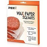 """Hamburger Patty Paper Sheets, Parchment Paper Squares 250 pcs 6"""" x 6"""" Non-Stick"""