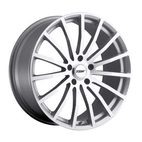 TSW MALLORY Silver Wheel with Painted Finish (18 x 8. inches /5 x 4 inches, 40 mm Offset)