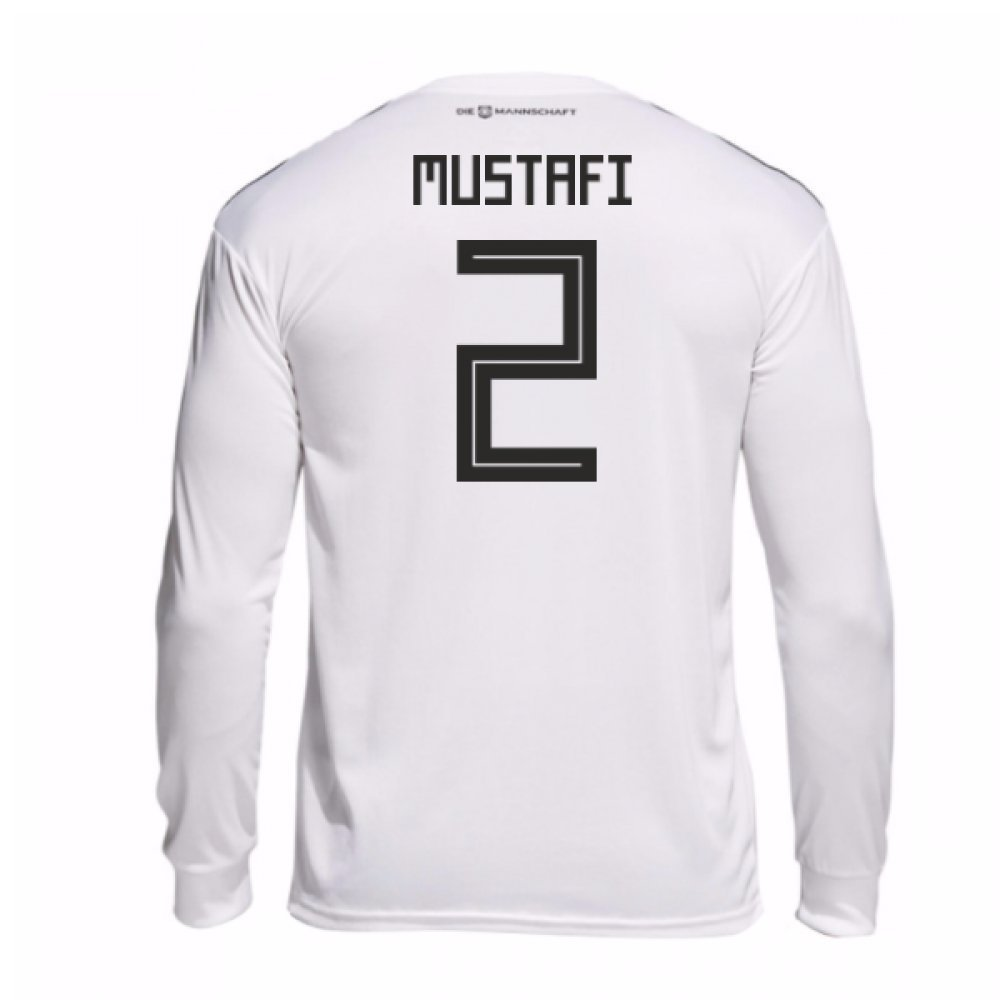 2018-19 Germany Home Long Sleeve Football Soccer T-Shirt Trikot (Shkodran Mustafi 2)
