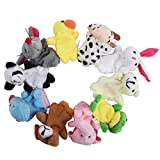 niceEshop(TM) Cute 10pcs Velvet Animal Style Finger Puppets Set +niceEshop Cable Tie thumbnail