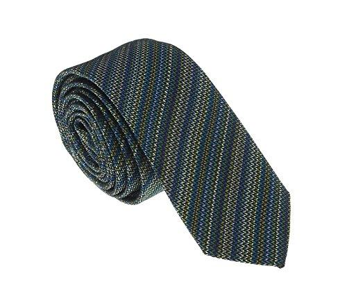 Missoni U5055 Green/Blue Sharkskin 100% Silk (Sharkskin Tie)