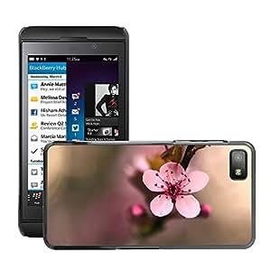 Super Stellar Slim PC Hard Case Cover Skin Armor Shell Protection // M00048348 flower cherry macro aero pink // BlackBerry Z10